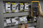pic of  multimeter  - Electrician at work  - JPG