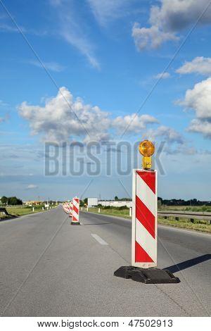 Local de construção de estrada
