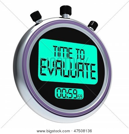 Time To Evaluate Message Shows Assessing And Reviewing