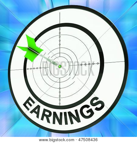 Earnings Shows Vocation, Occupation, Employment And Profession