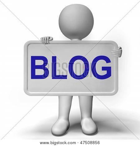 Blog Signboard For Blogger Website And Blogging