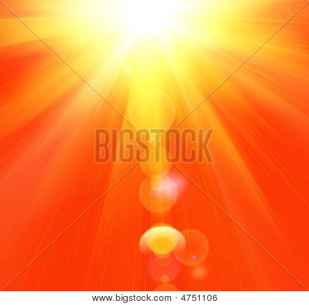 Hot Summer Rays Of The Sun
