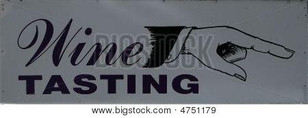 Signo de cata de vinos