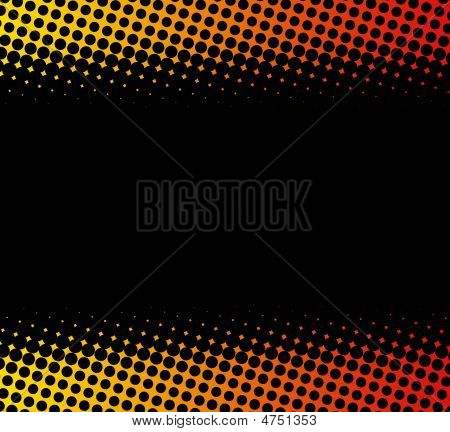 Dotted Yellow red Background