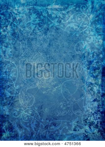 Blue Ornate Background
