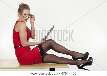 Sexy Secretary With An Attitude