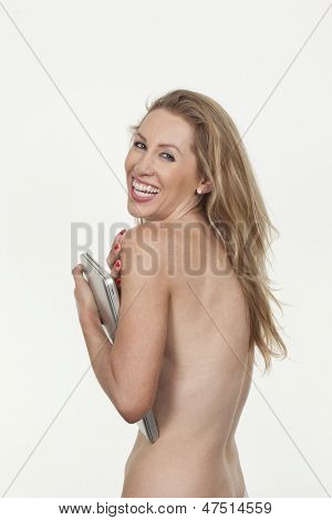 Beautiful Vivacious Woman Posing Naked