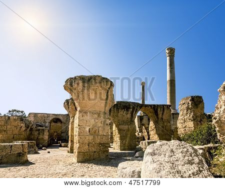 Baths Of Antonius In Carthage Tunisia