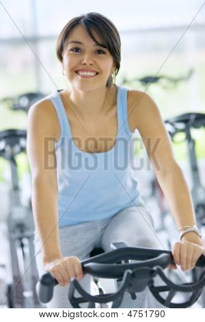 Woman Doing In A Gym