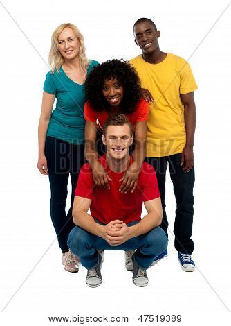 Group Of Four Happy Young People