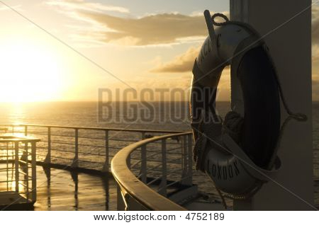 Lifebouy On Ship