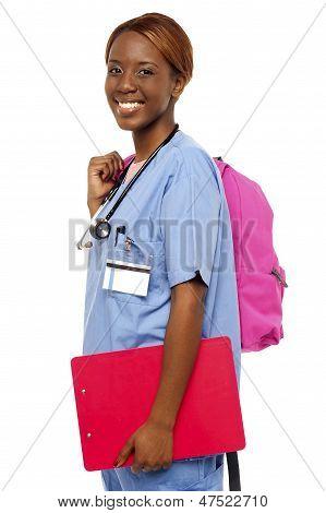 Female Nurse Under Training