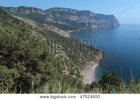 Crimean coastline near cape Aya, Crimea, Ukraine