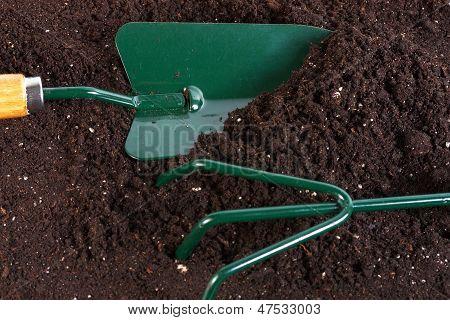 Shovel Rake In Land