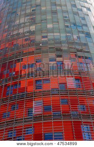Towertorre Agbar. Barcelona Landmark, Spain.