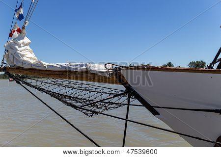 Ship Prow Against Blue Sky