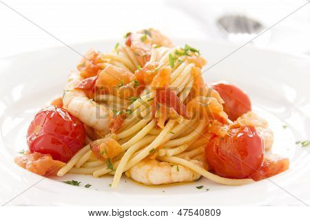 Shrimps And Spaghetti