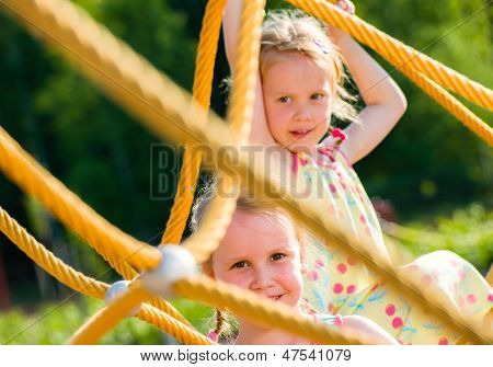 Girls And Jungle Gym