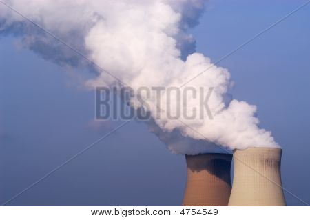 Cooling Towers Of A Nuclear Powerplant
