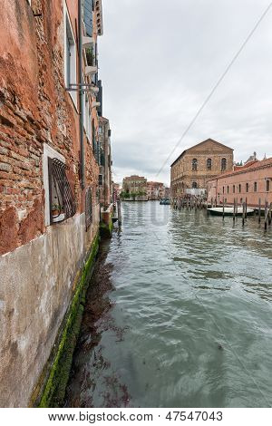 Wide Angle Shot Of Streets And Canals In Venice