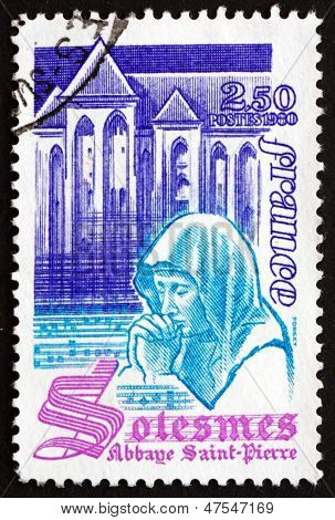 Postage Stamp France 1980 St. Peter's Abbey, Solesmes