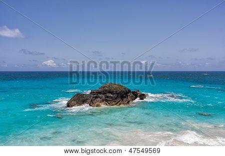 Ocean And Rock In Bermuda