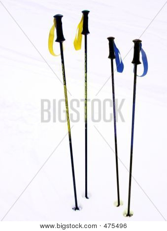 Ski Poles On A Break