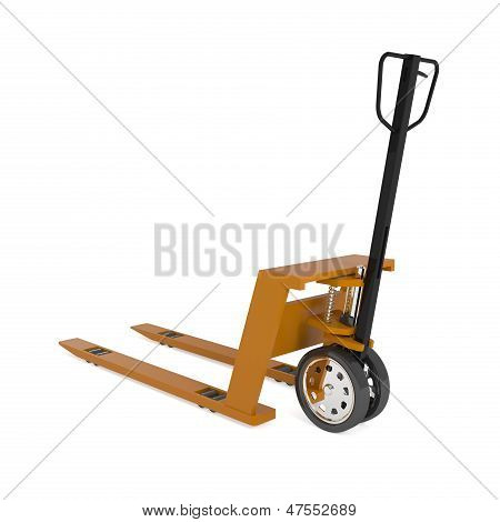 Pallet Hand Truck Isolated On White