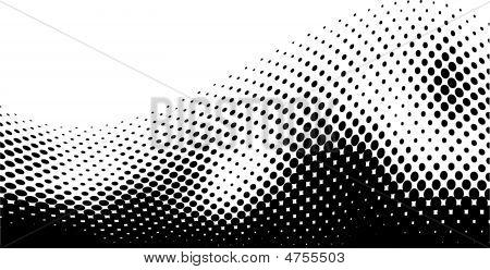 Black Halftone Wave