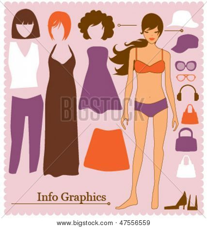 Fashion info graphic