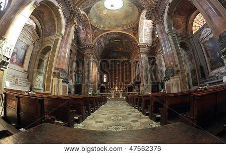 San Pietro Al Rosario Church In Novara, Italy