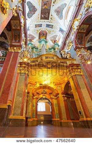 CZESTOCHOWA, POLAND - JUNE 24:nteriors of Jasna Gora monastery in Czestochowa on 24 June 2013. Sanctuary is the heart of pilgrimage in Poland and home to the holy Icon of the Black Madonna.