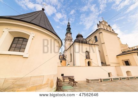 CZESTOCHOWA, POLAND - 24 JUNE 2013: Architecture of Jasna Gora monastery in Czestochowa on 24 June 2013. Sanctuary is the heart of pilgrimage in Poland and home to the holy Icon of the Black Madonna.