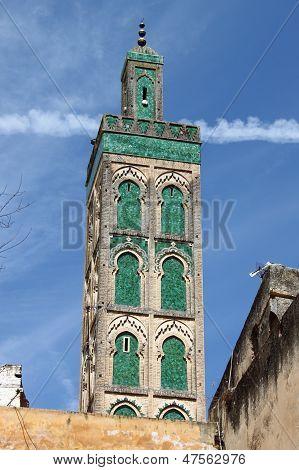 Minaret of Mosque Sidi Ahmed Tijani