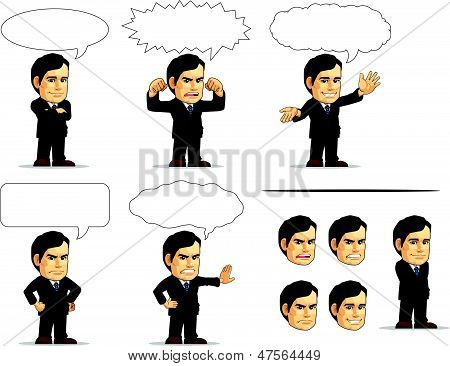 Businessman Or Company Executive Mascot 13