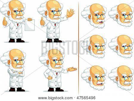 Scientist Or Professor Customizable Mascot 13