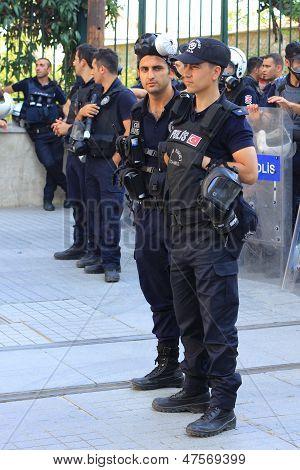 Police on Istiklal Street