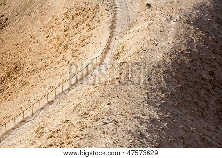 Stairs In The Desert To Masada