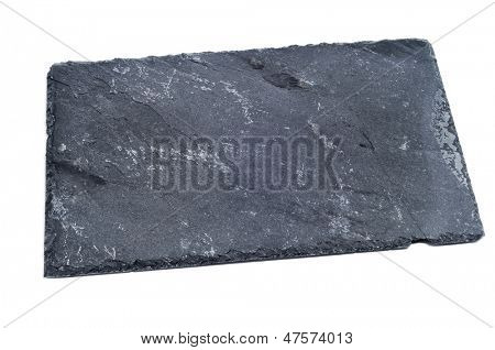 a piece of slate stone on a white background