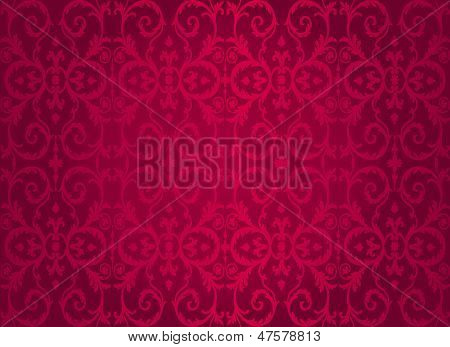 Red  Vintage decorative vector Wallpaper