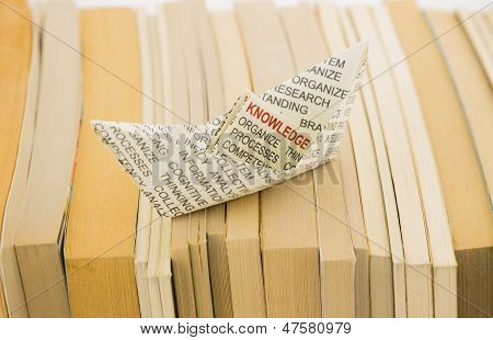 Knowledge Boat On Books
