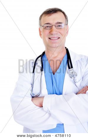 Successful Laughing Male Doctor