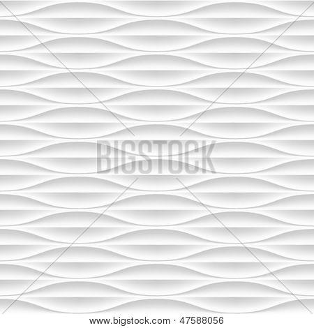 Blanca transparente textura. Fondo ondulado. Decoración de la pared interior. Pat de panel de pared interior de Vector 3D