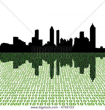 Atlanta Skyline With Binary
