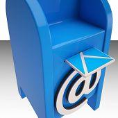 Постер, плакат: Адрес электронной почты на новых сообщений электронной почты окно показывает