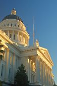 picture of death penalty  - california capitol building in sacramento illuminated by the evening sun - JPG