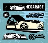 picture of auto garage  - Auto repair shop sign - JPG