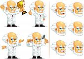 Scientist Or Professor Customizable Mascot 7