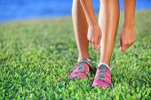 stock photo of pink shoes  - Running shoes  - JPG