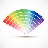 pic of descriptive  - Color palette isolated on white background color vector samples - JPG